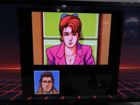 サイバーパンクな世界観が特徴のアドベンチャーゲーム、『SNATCHER』も音声がバッチリ再現されている