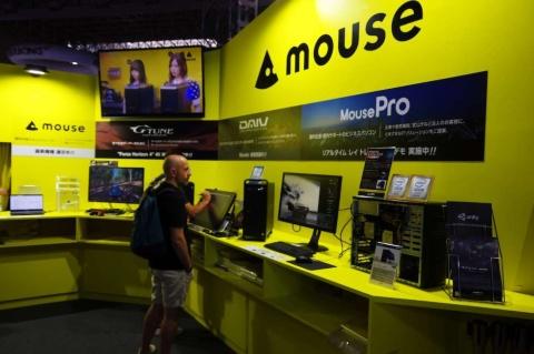 マウスコンピューターは、3Dグラフィックスの制作向けのハイエンドデスクトップを展示していた