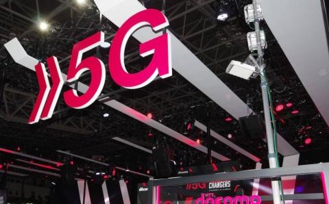 ドコモブースの端には、TGS2019の展示向けに5Gネットワークの設備が設置されている