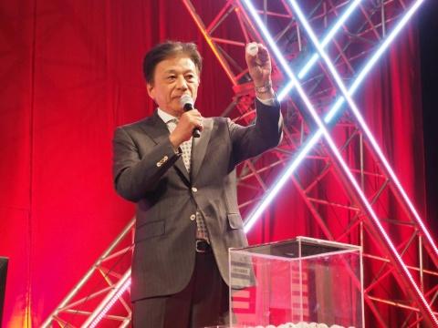 『グランツーリスモSPORT』の抽選を行ったのは、JeSUの会長を務める岡村秀樹氏。JeSUとしても国体でのeスポーツ大会成功には期するところがあるのは間違いないところ。