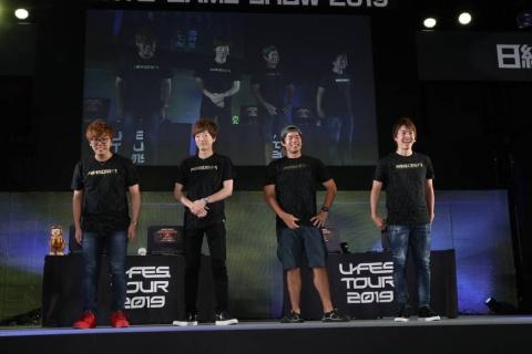 左から、HIKAKIN氏、SEIKIN氏、Kazu氏、Masuo氏