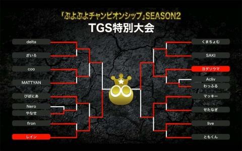 今大会のトーナメント表。本人の予想すら裏切る展開で、「本名は吉田」こと、ヨダソウマ選手が勝利を重ね、見事優勝を果たした