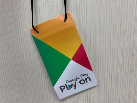 Google Playラリーを始めるためのスターターキットはブース内のほか、ラリーのスタンドがある場所で入手できる