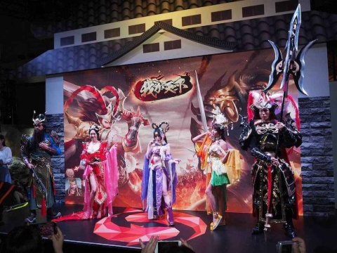 『我が天下』『戦国布武』のコスプレーヤーによるイベントなどが実施されるなど、既存ゲームのプロモーションに力が注がれていた