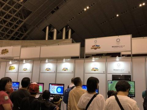 どこも人気だったが、『マリオ&ソニック AT 東京2020オリンピック』の行列が目立った
