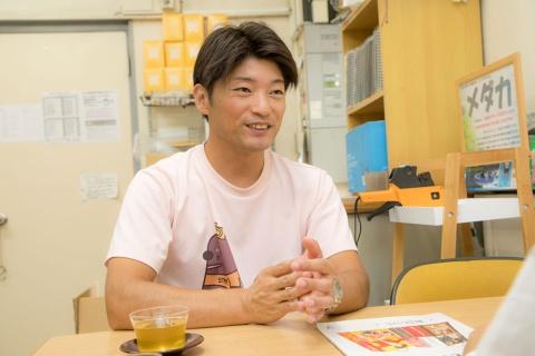 竹島水族館の小林龍二館長