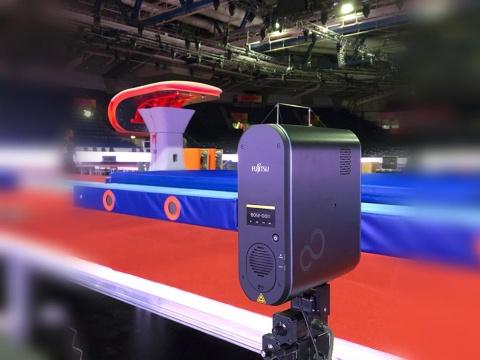 ドイツのシュツットガルトで2019年10月に開催された体操の世界選手権で富士通の採点支援システムが使われた(写真提供:富士通)