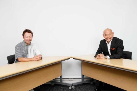 本田事務所 代表取締役/PRストラテジストの本田哲也氏(左)、クー・マーケティング・カンパニー 代表取締役の音部大輔氏(右)