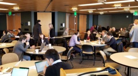 米シアトルで行われている日本企業とシアトルスタートアップのミートアップ。米シアトルのベンチャーキャピタル、イノベーション・ファインダーズ・キャピタルの江藤哲郎代表が主宰している。江藤氏は『AIゲームチェンジャー シリコンバレーの次はシアトルだ』の共著者である