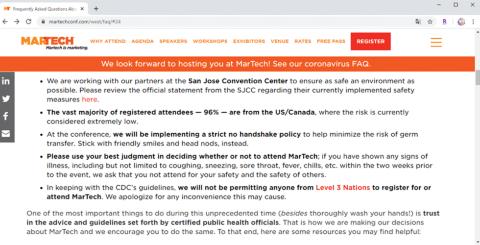 MarTechの運営会社が示した開催に向けた判断基準
