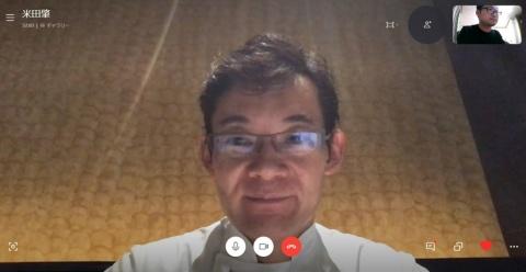 HAJIMEの営業終了後、インタビューに応じた米田氏。表情は穏やかだが、インタビュー中はPCのモニター越しにも飲食店の行く末に対する危機感がひしひしと伝わってきた