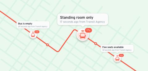 バスの混雑状況を提供し、社会的距離を確保した移動を支援するTransit