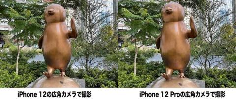 左がiPhone 12、右がiPhone 12 Proで撮影した写真。どちらも自然な明るさと色合いのバランスを実現している
