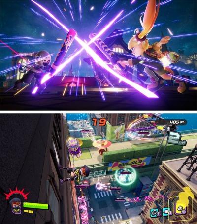 世界中に散らばったニンジャの末裔(まつえい)たちの戦いを描いた『Ninjala』。軽快なアクションの背景には壮大なストーリーが用意されている (C) GungHo Online Entertainment, Inc. All Rights Reserved.