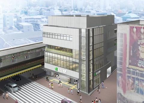 2020年内に改装開業予定のJR山手線・新大久保駅のイメージ(写真提供/JR東日本)