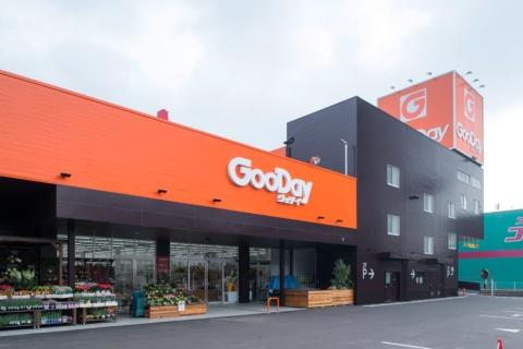 グッデイは1978年に福岡・大野城市に1号店をオープンしたホームセンター。現在は福岡、佐賀、大分、熊本、山口に65店舗を展開