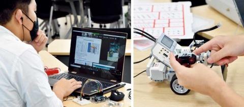 新型コロナウイルスの感染拡大を受け、2020年度はオンライン形式による講義を実施。写真は、工学部1年の実践型講座「デザイン基礎」を受ける学生の様子