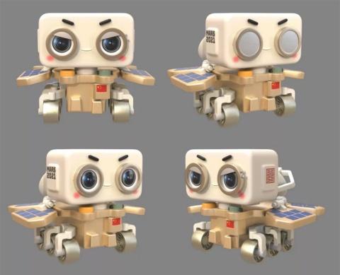 発表された火星探査車「祝融号(ジューロンハオ)」のデジタルヒューマンのイメージ。人間味あふれる多彩な表情が特徴だ(画像はバイドゥのニュースリリースより)