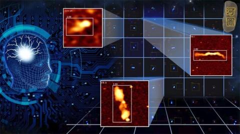 天体探索ツール「河図(ホートゥー)」の天体自動識別分析の様子(画像はファーウェイのニュースリリースより)