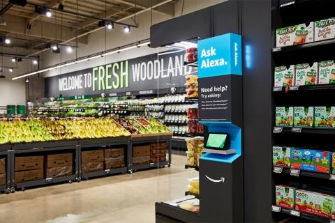 2020年9月、米ロサンゼルス郊外にオープンした「Amazon Fresh」