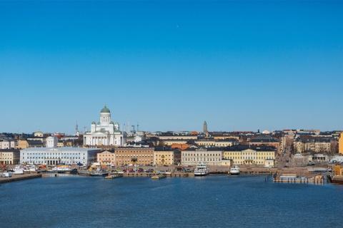 フィンランドの首都・ヘルシンキは、海沿いにある都市(写真提供/Helsinki Marketing)