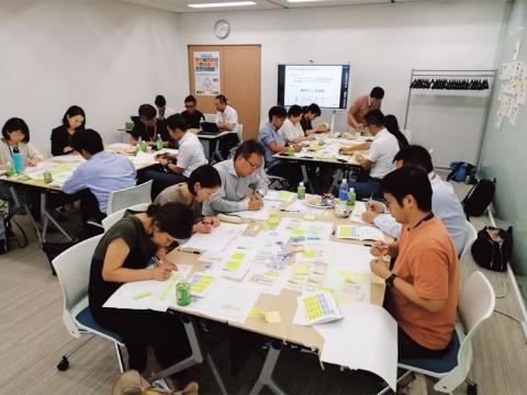両社でデザイン思考のワークショップを行ったところ、15個のアイデアが出た。このうち2つを今回、採用した(写真提供/リコー)