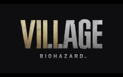 『バイオハザード ヴィレッジ』のタイトルロゴ。『7』に続くナンバリングタイトルであることが示唆されている