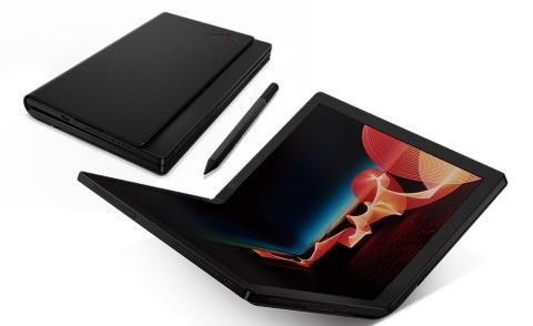 """日本国内で開発された「ThinkPad X1 Fold」は""""2つ折り""""の大本命。ミニPC、ノート、本、タブレットの「1台4役」だ"""