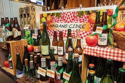 長野県のアンテナショップ「銀座NAGANO」は、人気を受けて目立つ場所にシードルコーナーを設置