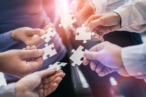 DX事業を成功に導くには、DX責任者とDXの執行者を分離し、連携させるための体制づくりが大切になる(写真提供/shutterstock)