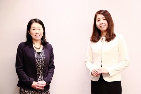 長田志織氏(右)と渡辺紀子氏(左)