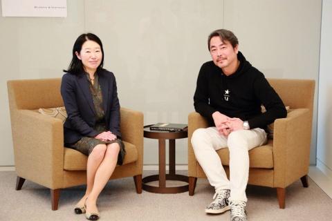 高橋信太郎氏(右)と渡辺紀子氏(左)