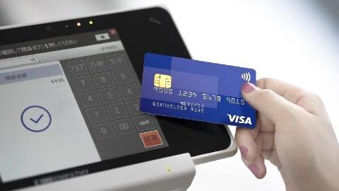 Visaのタッチ決済は原則、読み取り端末にカードをタッチするだけで決済が完了する(写真提供/ビザ・ワールドワイド・ジャパン)