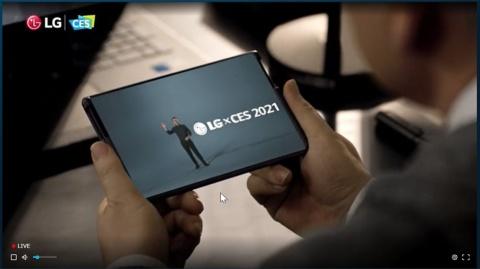 LG電子が巻き取り式可変スマホ、マスク型の清浄機も【CES 2021】(画像)