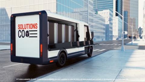 物流事業者に向けた商用EVのブランド「ブライト・ドロップ」。電動式ラック「EP1」を専用の電動トラック「EV600」に収納できる