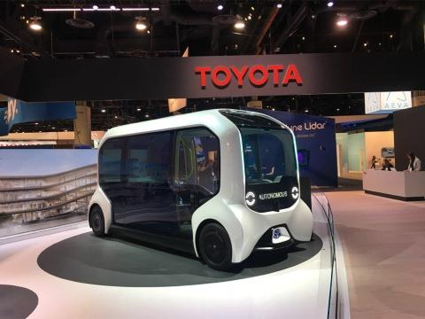 写真は2020年のCESの様子。20年はトヨタ自動車が基調講演をするなどモビリティー関連の展示が盛況だった。オンライン化した21年もその流れは続いている