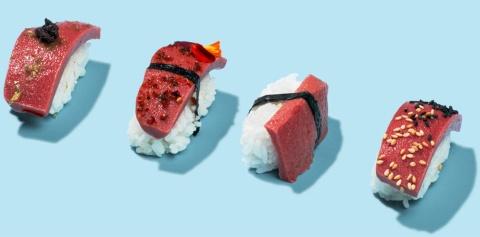 米Kuleanaの代替生マグロを使った寿司のイメージ(写真/Kuleanaホームページより)