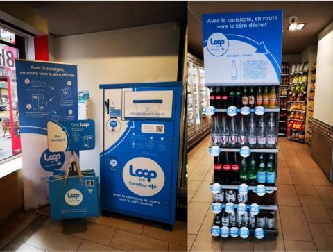 フランスの「カルフール」内にあるLoop商品売り場(写真提供/ループ・ジャパン)