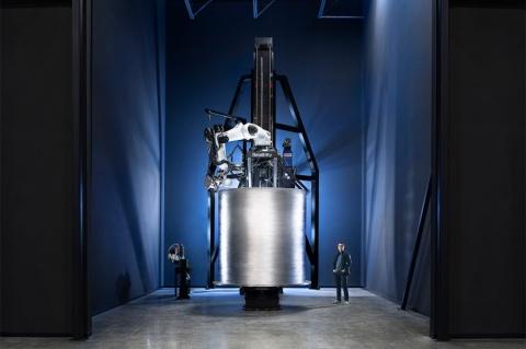 大型3Dプリンターで製造したロケットの一部(出所/リレーティビティースペース)
