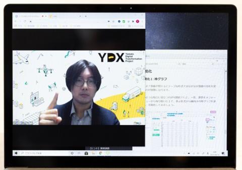 Yamato Digital Academyの教育プログラムではヤマトグループの実データを活用して教えており、実践的な内容になっている(写真/丸毛 透)