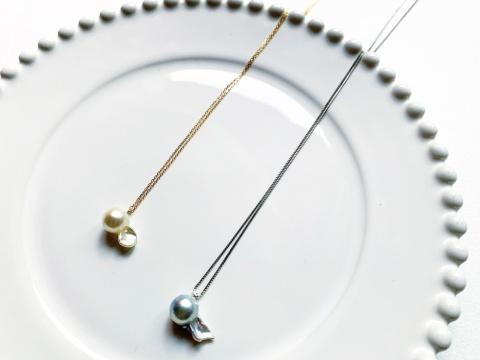 """「金魚真珠」は一つひとつ色や形が違う。その形は自然の恵みが作った""""世界でたった1つ""""の形状であると強調する"""