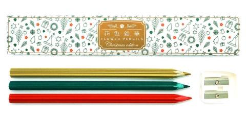17年12月に発売した「雪色鉛筆(鉛筆削り付き、1320円)」、18年11月に発売した「花色鉛筆/Christmas edition(鉛筆削り付き、1320円)」も人気