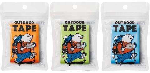 「OUTDOOR TAPE(アウトドアテープ)」は8色がある(写真提供/ヤマト)(c)mikke design lab.