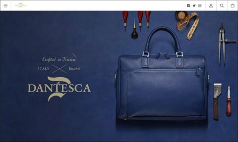 東急ハンズが手がけるイタリアンレザーブランド「DANTESCA」はShopifyを使ったECサイトを展開している