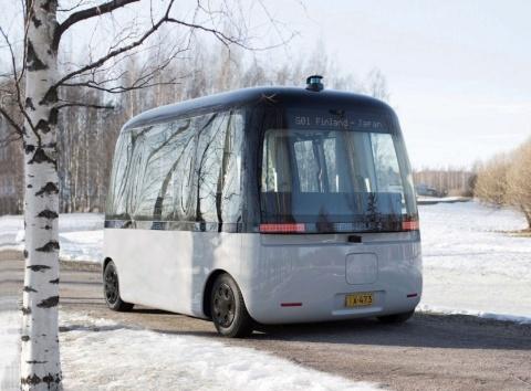 良品計画がデザインした自動運転バス「GACHA(ガチャ)」。車体の前後を意識させないユニークなデザインで2019年度グッドデザイン金賞を獲得している