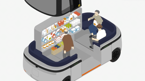 無印の自動運転バス、移動店舗や図書館にもなり地域との共生強化(画像)