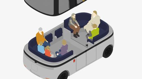 GACHAの内部は一般的な座席の機能だけではなく、移動する店舗や図書館も想定してデザインしている