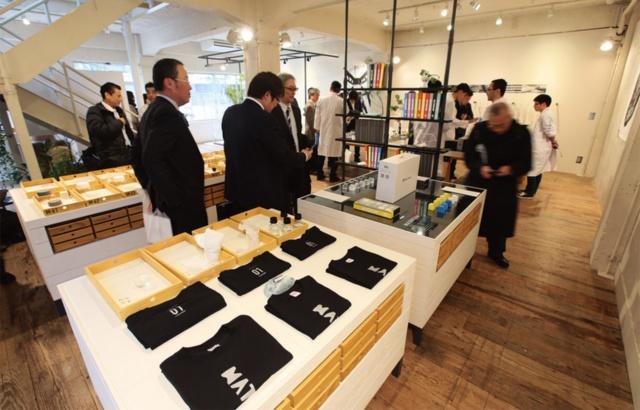 三井化学の「そざいの魅力ラボ」メンバーが推進した展示会「MOLpCafe」。東京・青山にあるイベントスペース「ライトボックススタジオ青山」を活用して開催された