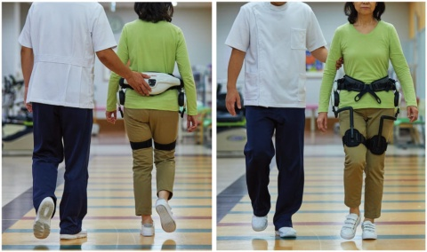 独自の「倒立振子モデル」に基づき、腰フレーム、モーター、大腿フレームの3つで構成。腰フレームの両側にモーターがあり、背中部分に制御用のコンピューターとバッテリーがある。歩行時の股関節の動きを左右のモーターに内蔵した角度センサーで検知して歩行を支援する。重量は約2.7kg(バッテリー含む)で、稼働時間は約60分