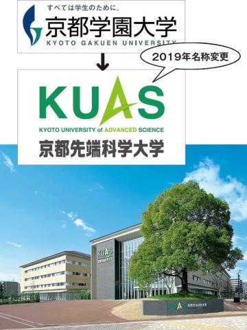 2019年4月に京都学園大学から改名した。京都市の太秦キャンパスに20年、工学部が新設される